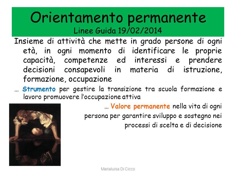 Orientamento permanente Linee Guida 19/02/2014