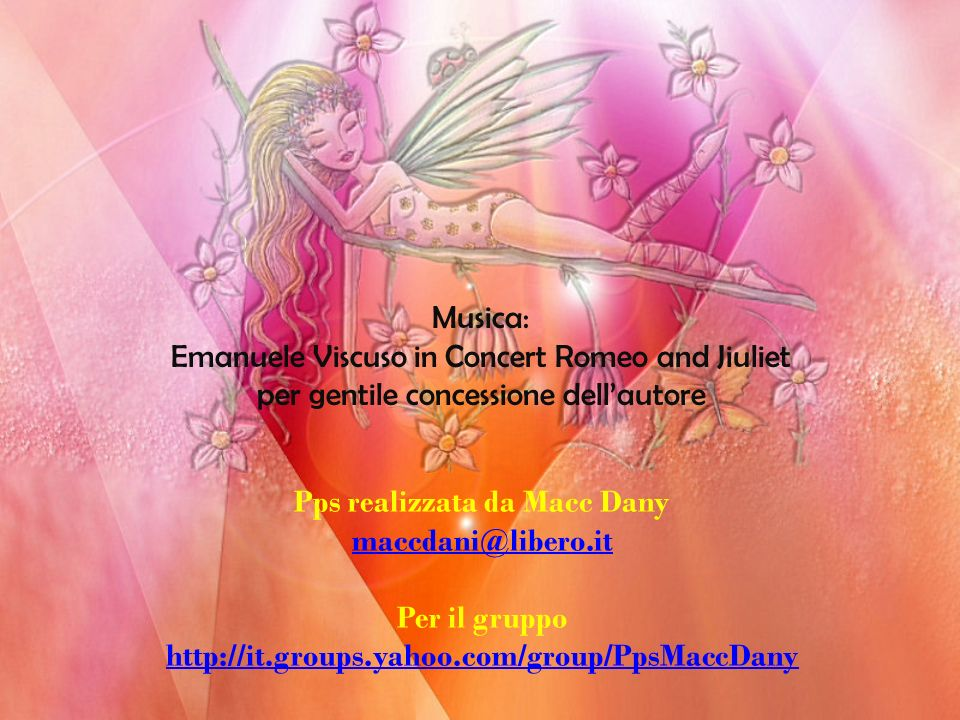 Emanuele Viscuso in Concert Romeo and Jiuliet