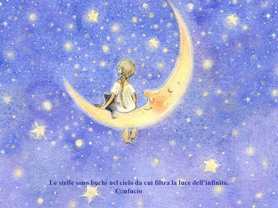Le stelle sono buchi nel cielo da cui filtra la luce dell infinito.