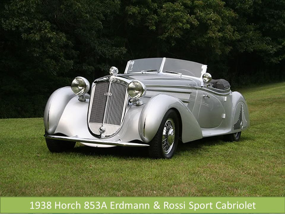 1938 Horch 853A Erdmann & Rossi Sport Cabriolet