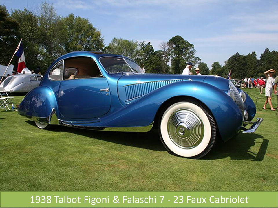1938 Talbot Figoni & Falaschi 7 - 23 Faux Cabriolet