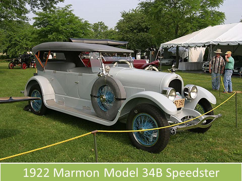 1922 Marmon Model 34B Speedster