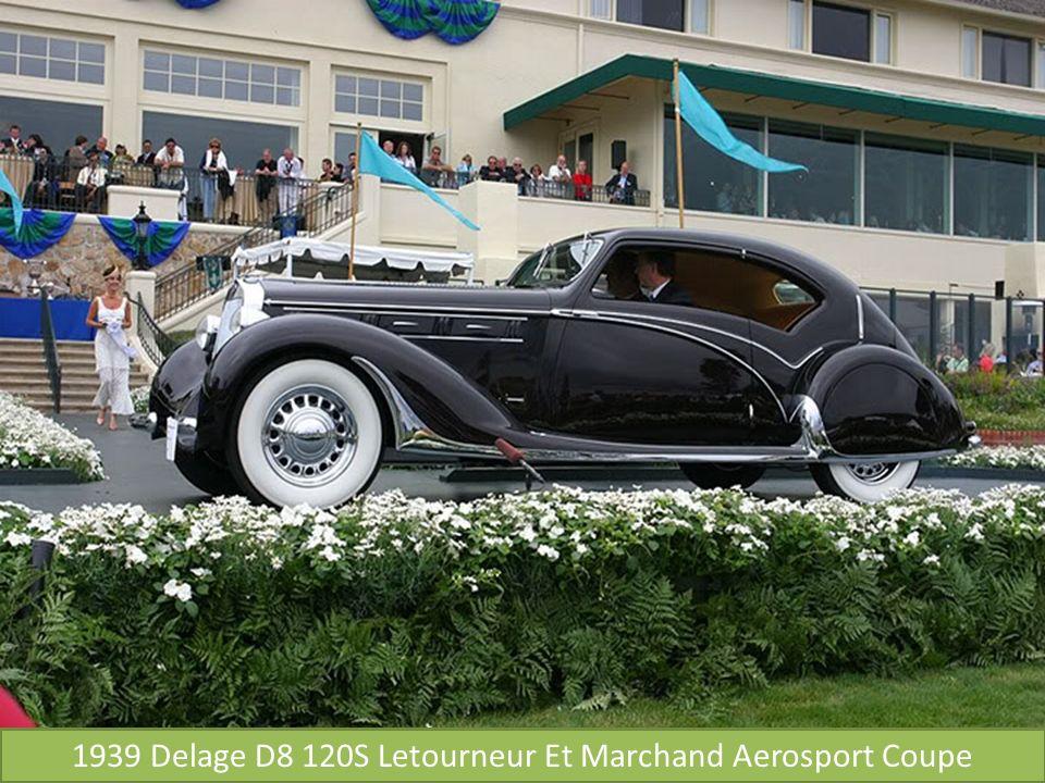 1939 Delage D8 120S Letourneur Et Marchand Aerosport Coupe