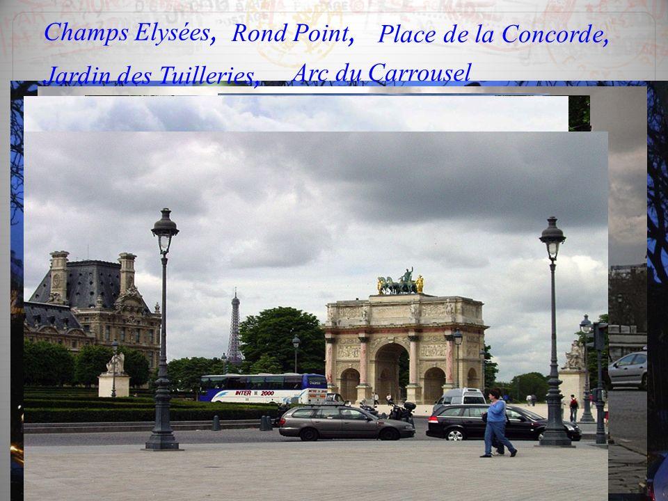 Champs Elysées, Rond Point, Place de la Concorde,