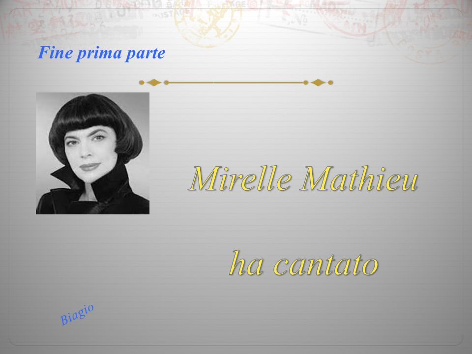 Mirelle Mathieu ha cantato L Amour Fine prima parte Clic per terminare