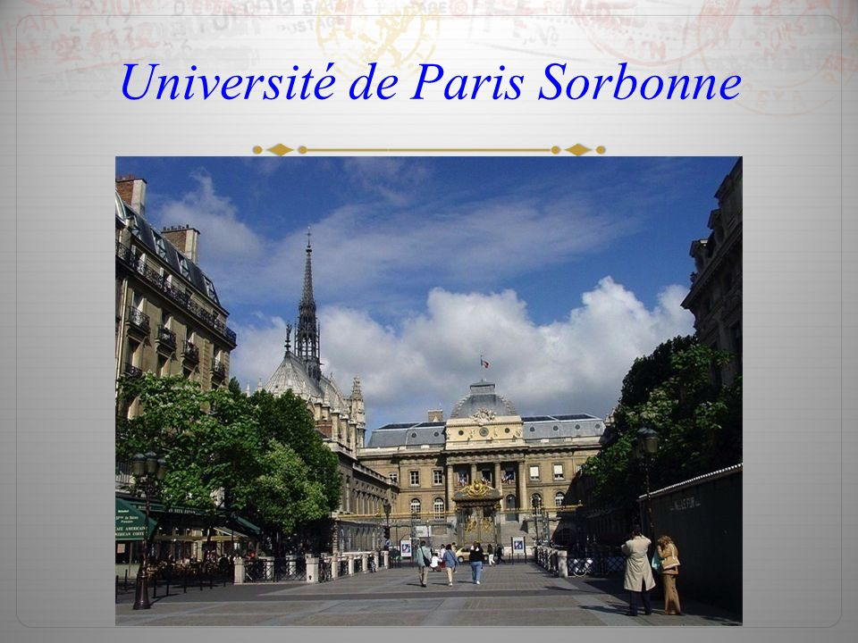Université de Paris Sorbonne