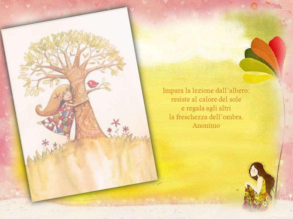 Impara la lezione dall'albero: resiste al calore del sole