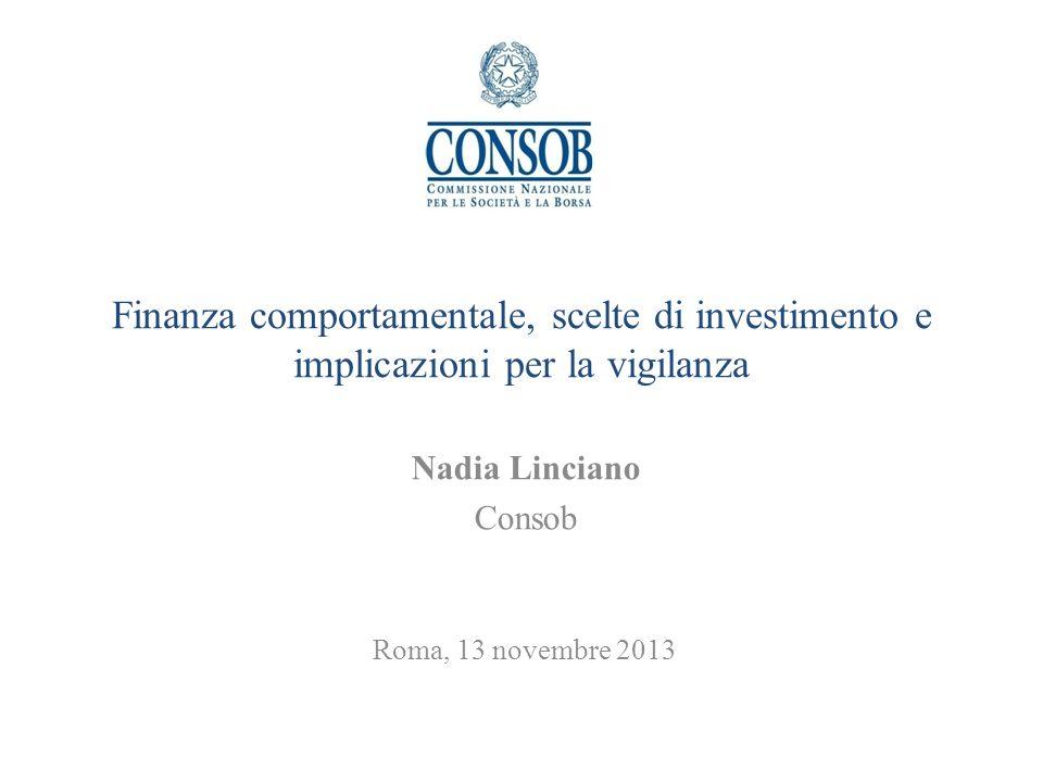 Nadia Linciano Consob Roma, 13 novembre 2013