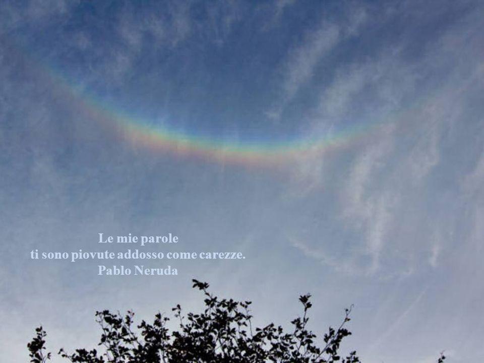ti sono piovute addosso come carezze. Pablo Neruda