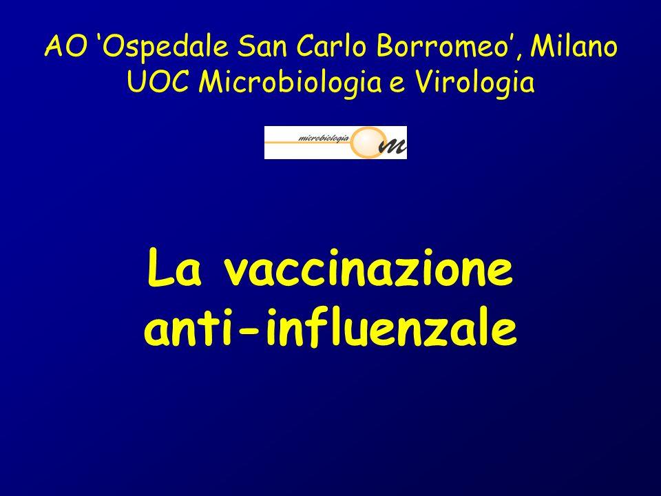 La vaccinazione anti-influenzale