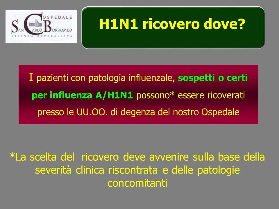 H1N1 ricovero dove