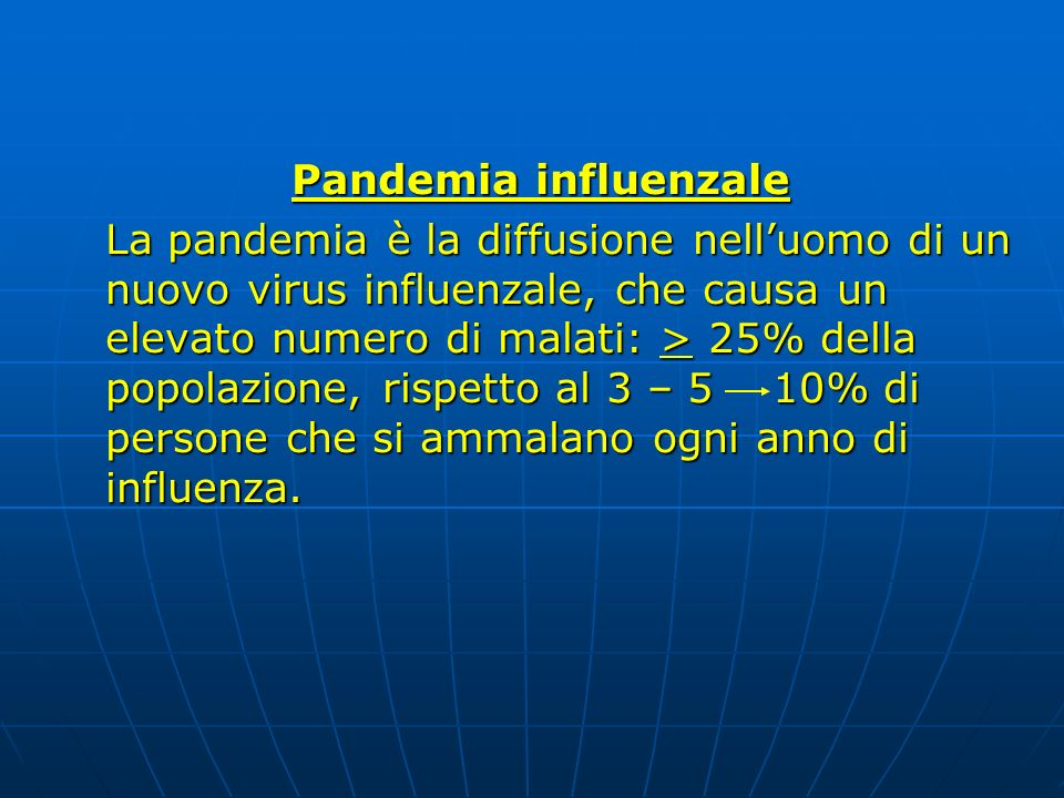 Pandemia influenzale