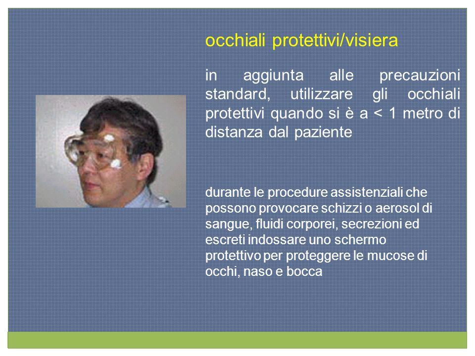 occhiali protettivi/visiera