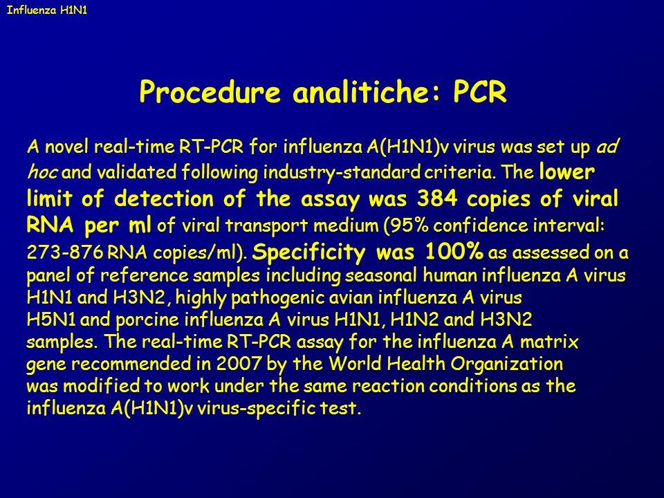Procedure analitiche: PCR