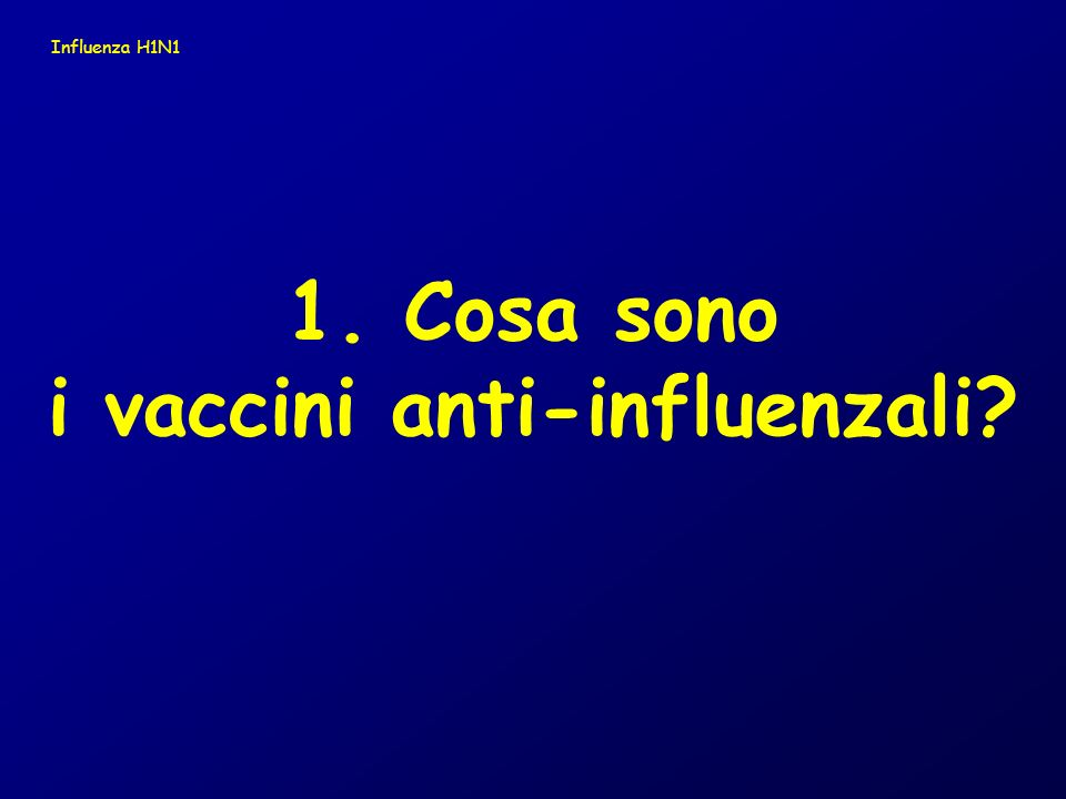 i vaccini anti-influenzali