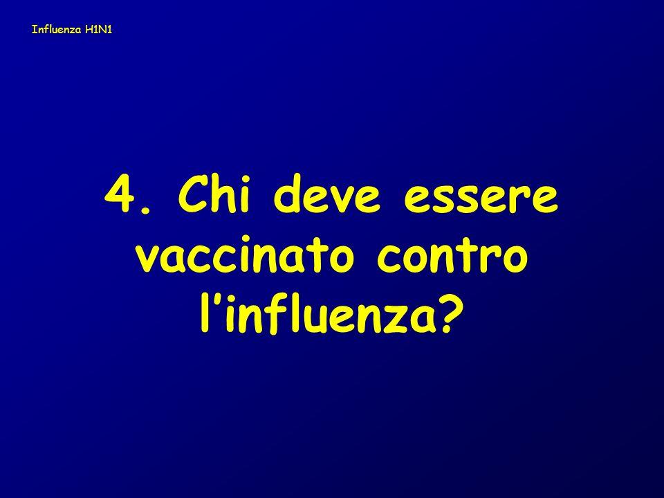 vaccinato contro l'influenza
