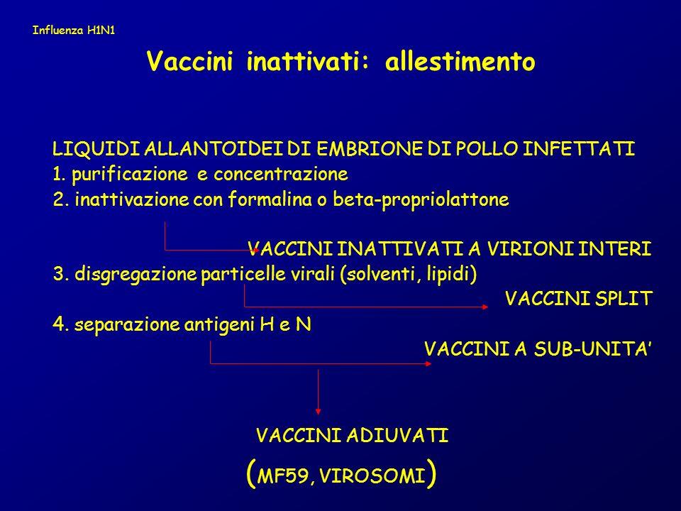 Vaccini inattivati: allestimento