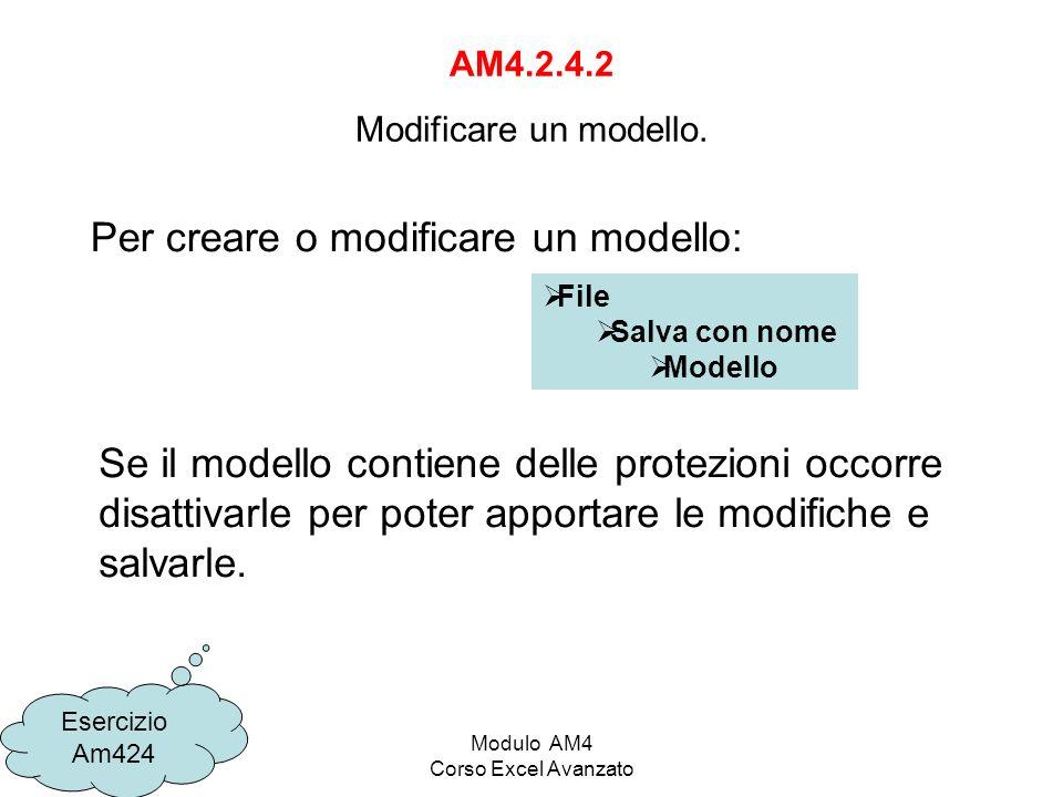 AM4.2.4.2 Modificare un modello.