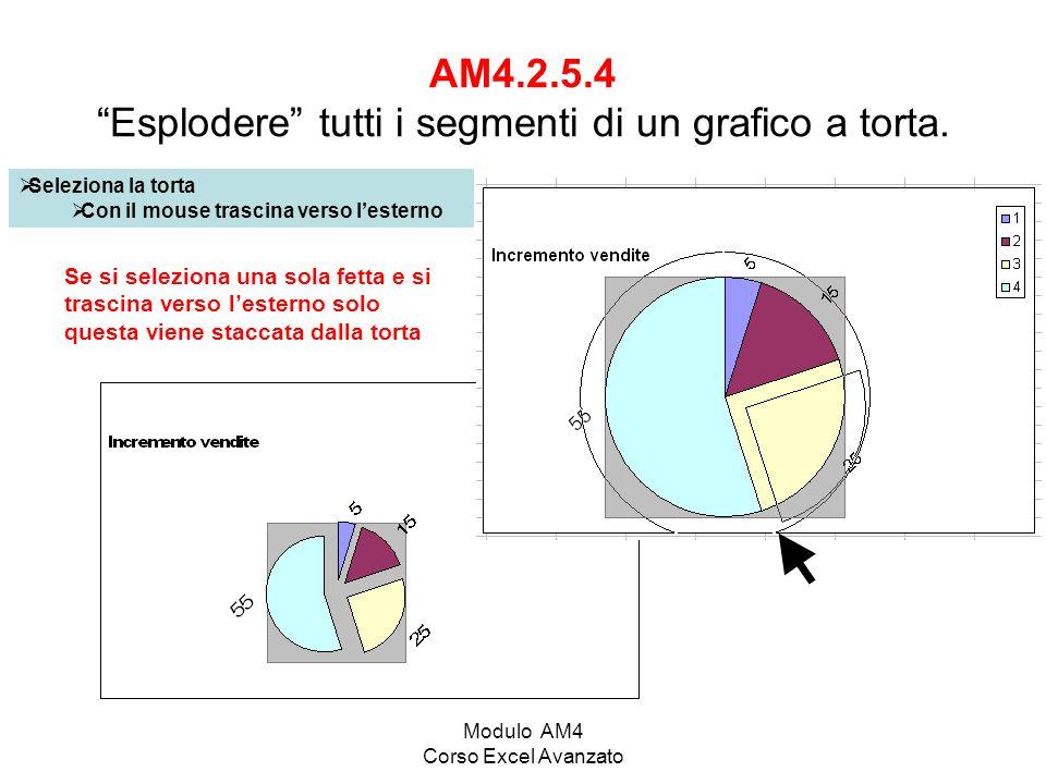 AM4.2.5.4 Esplodere tutti i segmenti di un grafico a torta.