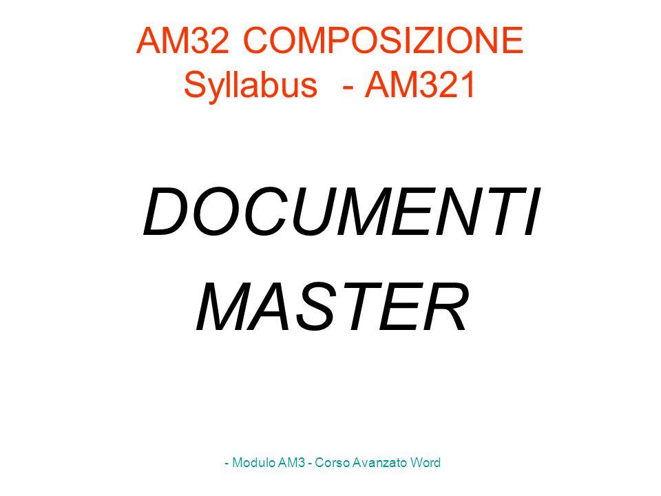 AM32 COMPOSIZIONE Syllabus - AM321