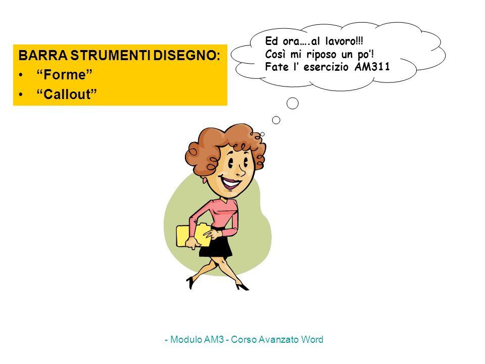 - Modulo AM3 - Corso Avanzato Word