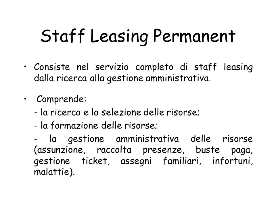 Staff Leasing Permanent