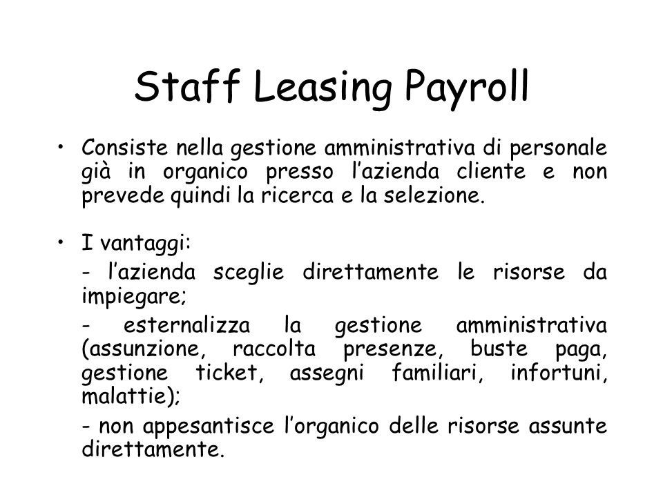 Staff Leasing Payroll