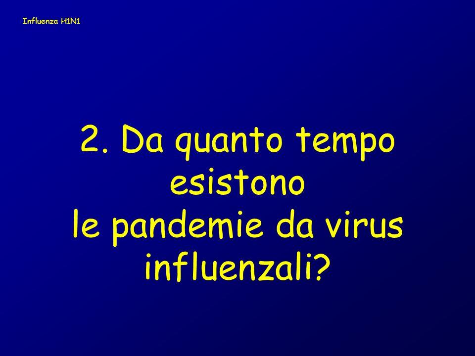 2. Da quanto tempo esistono le pandemie da virus influenzali
