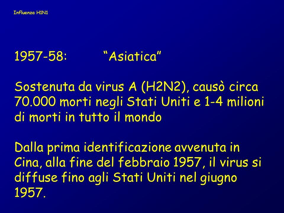 Influenza H1N1 1957-58: Asiatica