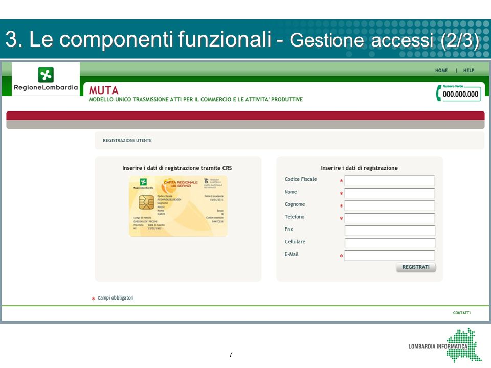 3. Le componenti funzionali - Gestione accessi (2/3)