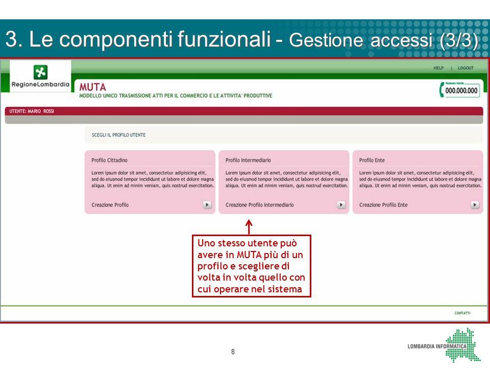 3. Le componenti funzionali - Gestione accessi (3/3)