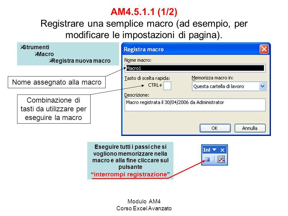 interrompi registrazione