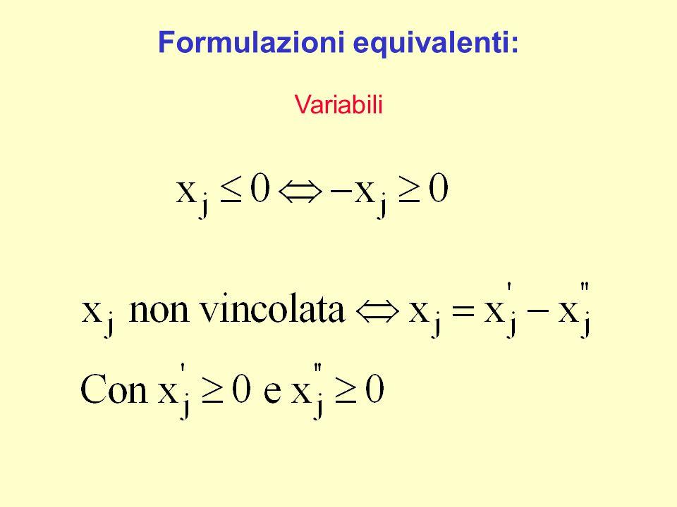 Formulazioni equivalenti:
