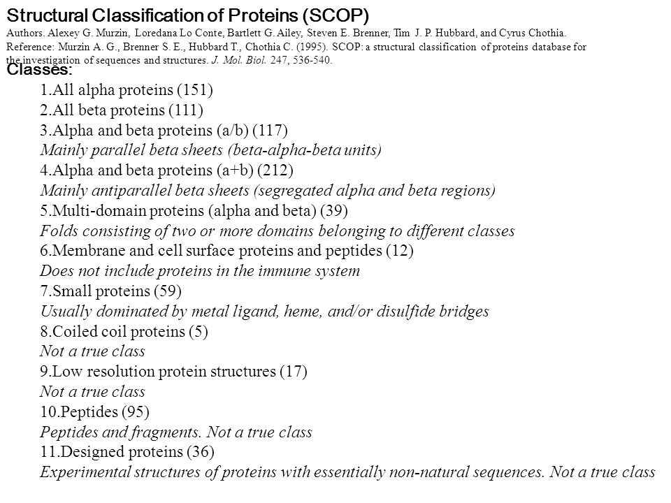Structural Classification of Proteins (SCOP)