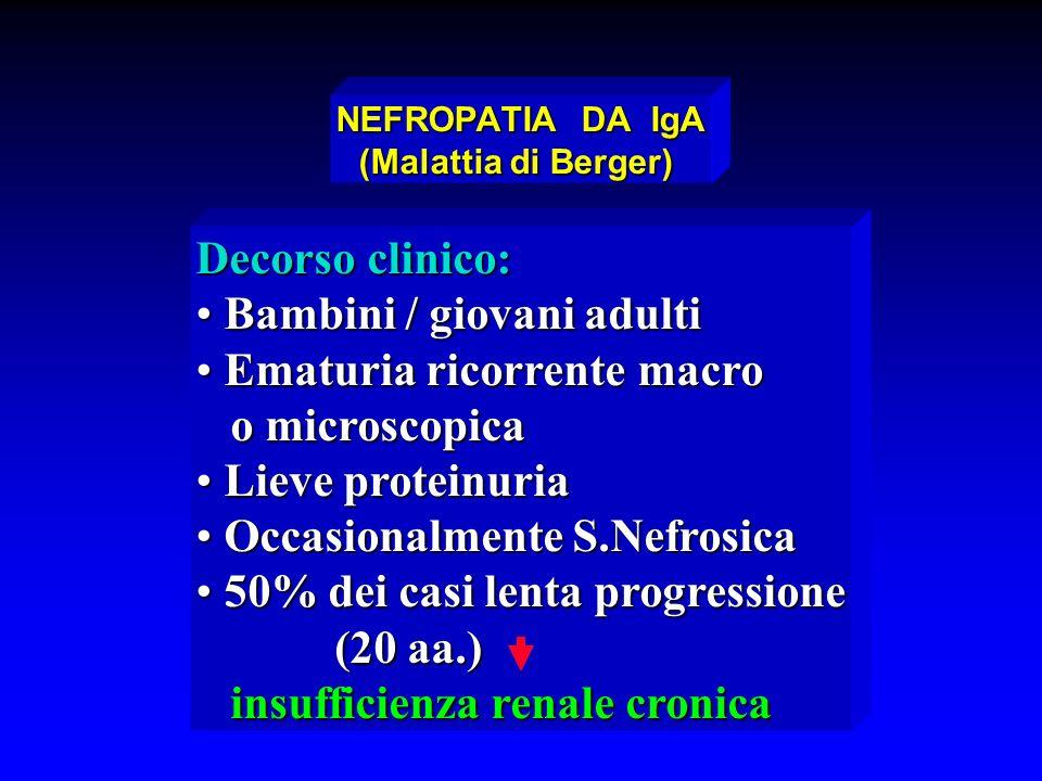 NEFROPATIA DA IgA (Malattia di Berger)