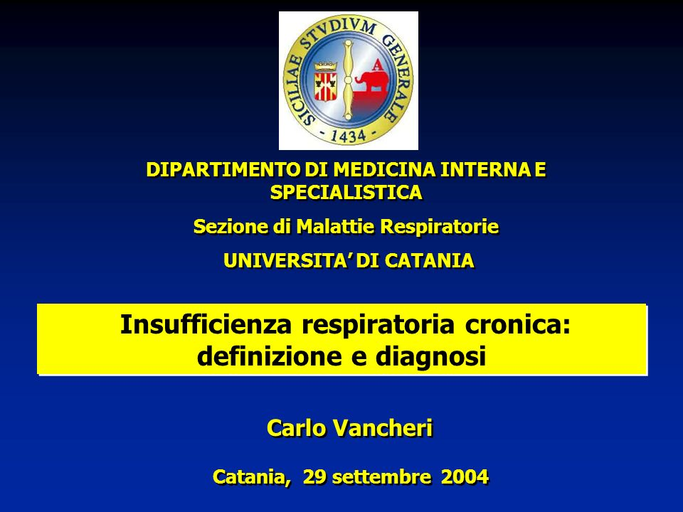 Insufficienza respiratoria cronica: definizione e diagnosi