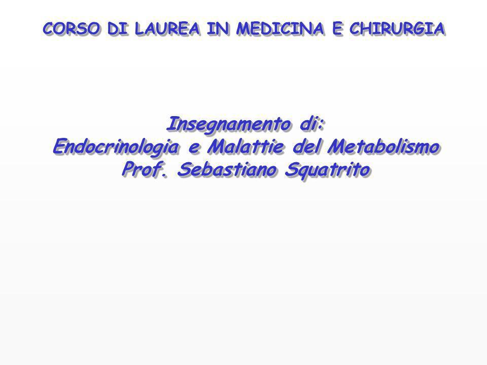 Endocrinologia e Malattie del Metabolismo Prof. Sebastiano Squatrito