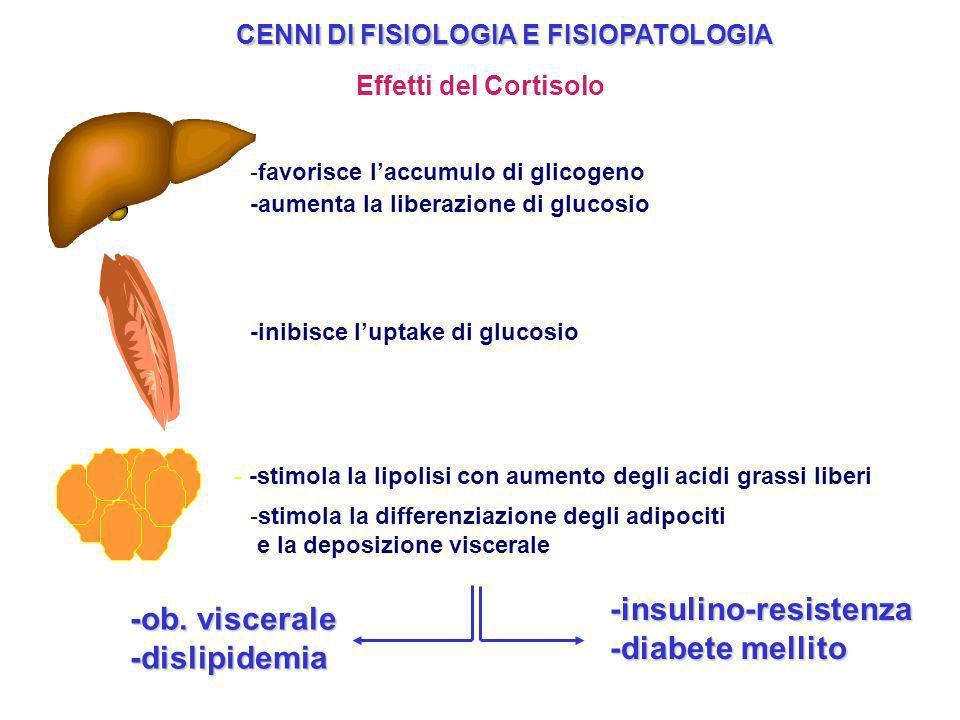 -insulino-resistenza -diabete mellito -ob. viscerale -dislipidemia
