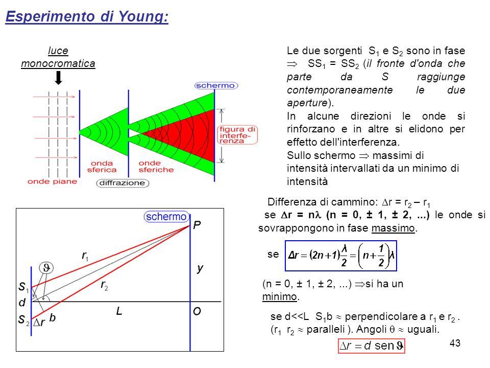 Esperimento di Young: luce monocromatica