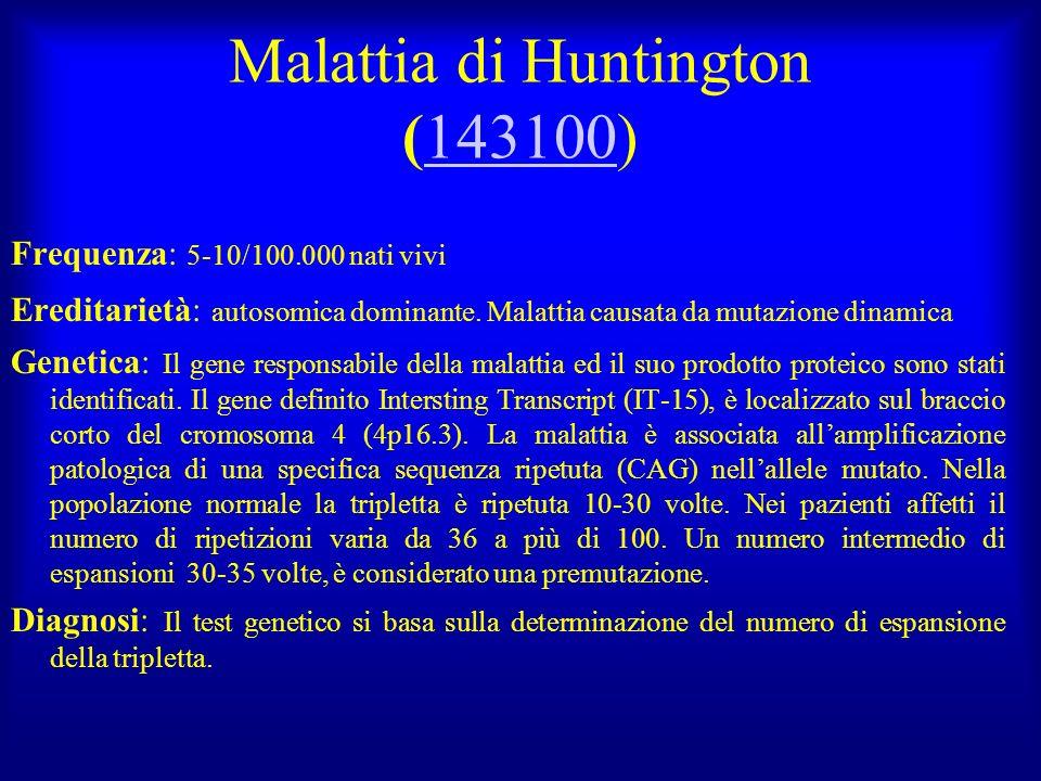 Malattia di Huntington (143100)
