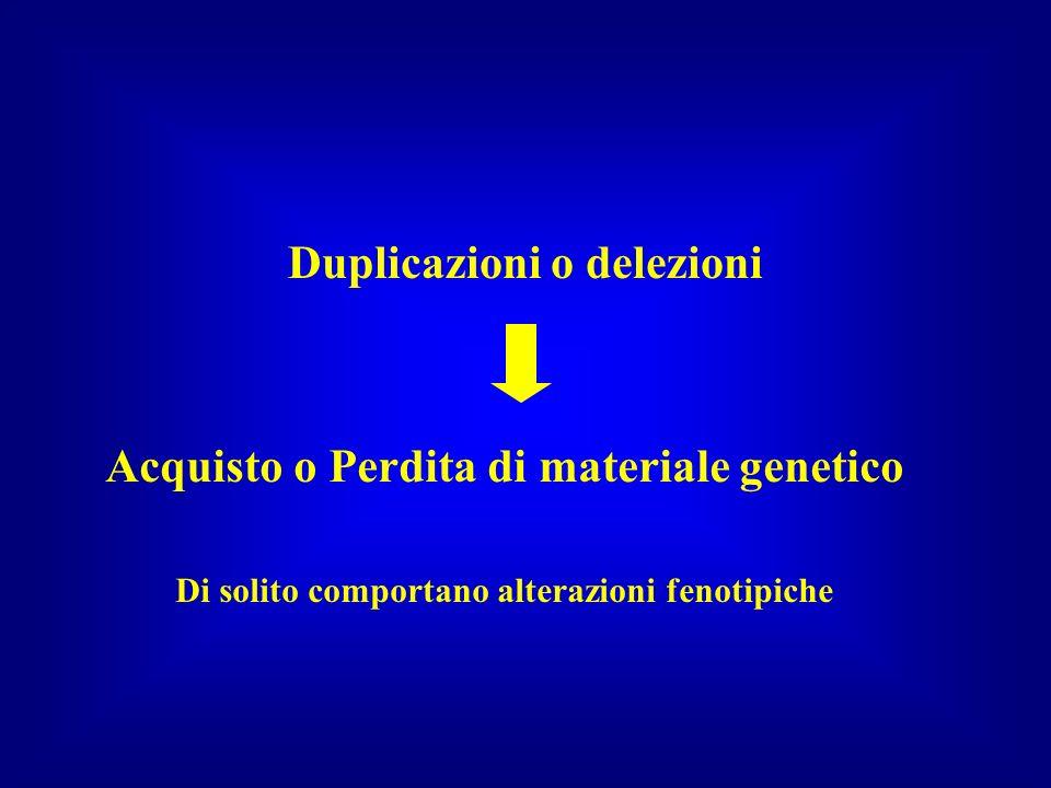 Duplicazioni o delezioni