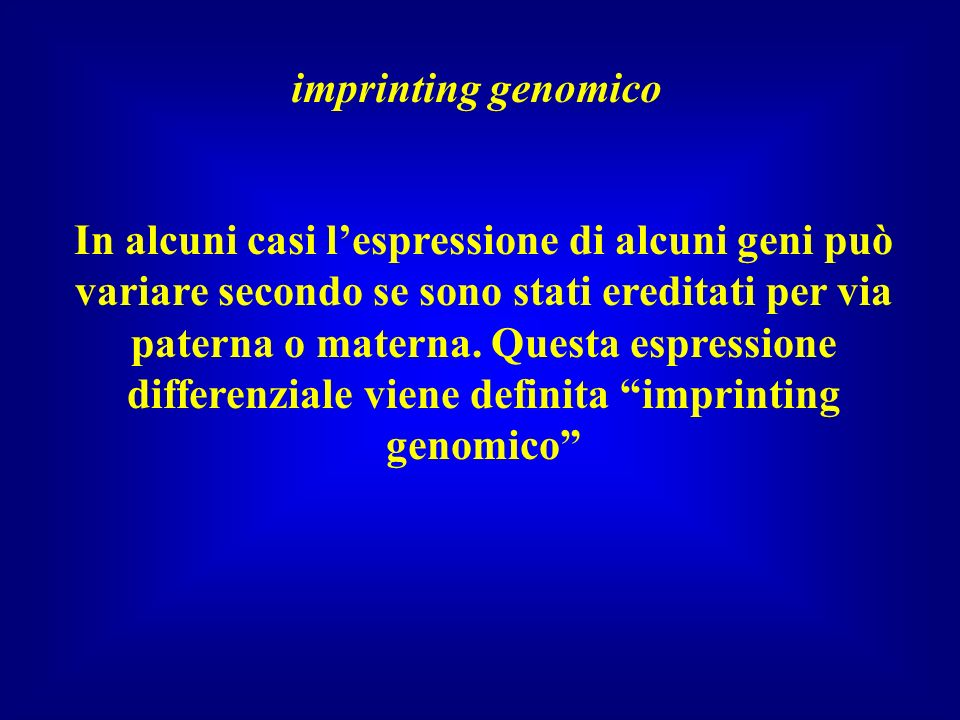 imprinting genomico