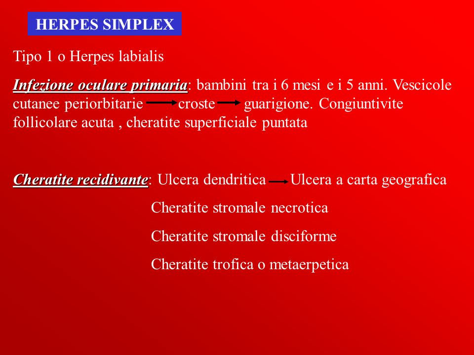 HERPES SIMPLEX Tipo 1 o Herpes labialis.