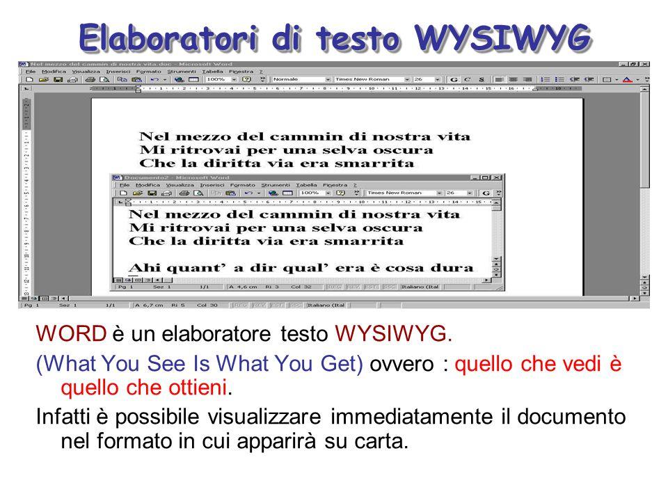 Elaboratori di testo WYSIWYG