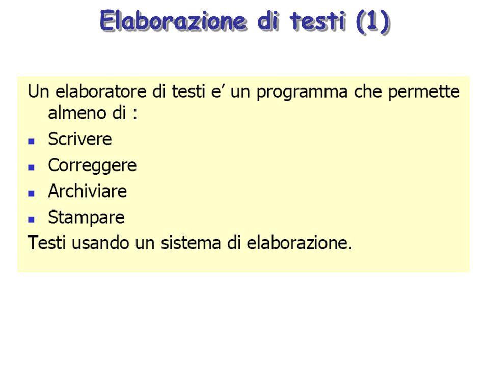 Elaborazione di testi (1)