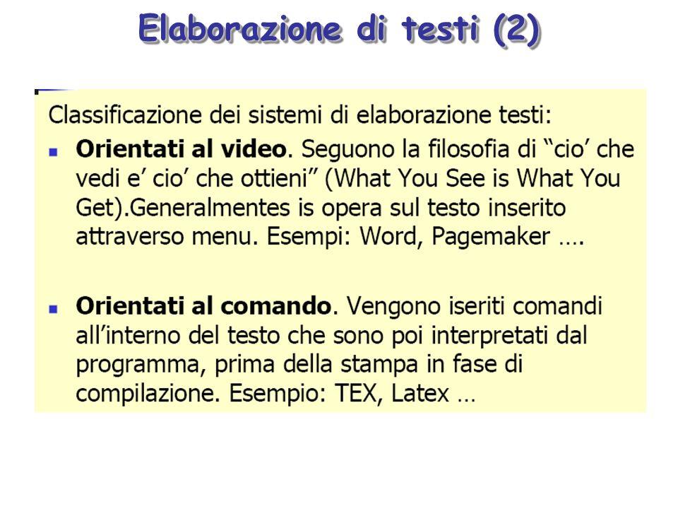 Elaborazione di testi (2)