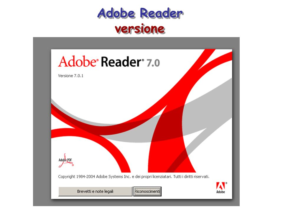 Adobe Reader versione