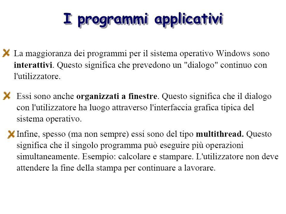 I programmi applicativi