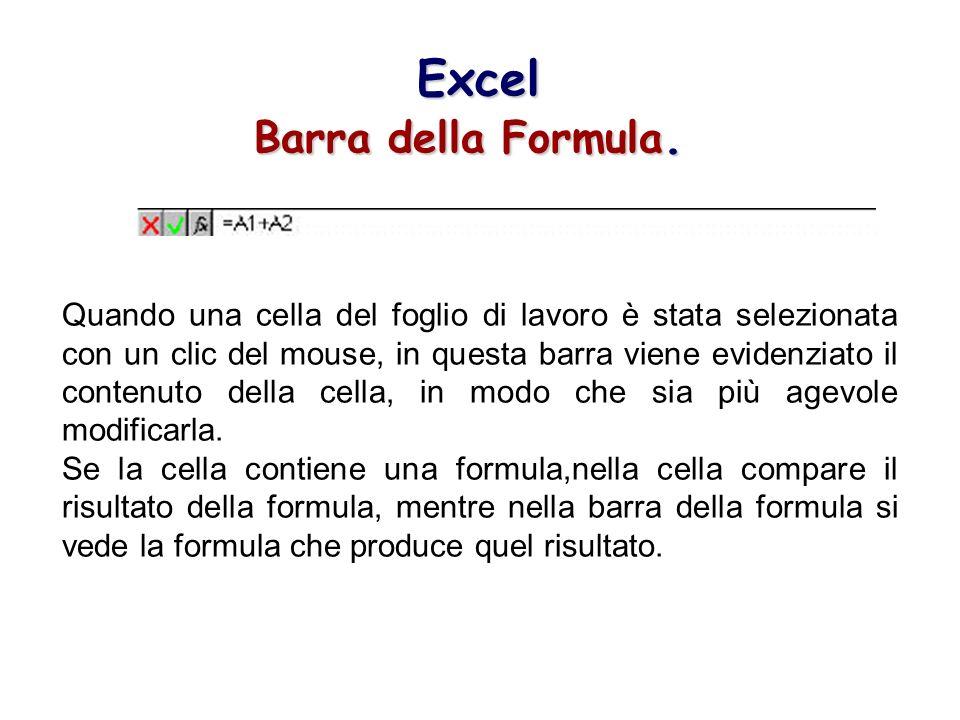 Excel Barra della Formula.