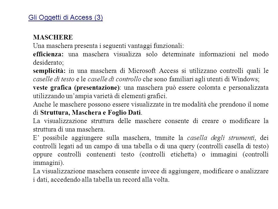 Gli Oggetti di Access (3)